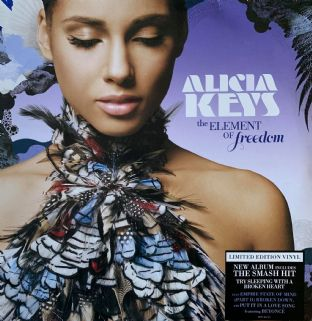 Alicia Keys ‎- The Element Of Freedom (LP) (Lilac Vinyl) (G-VG/G++)